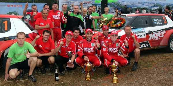 Triple Victory for MRF Skoda