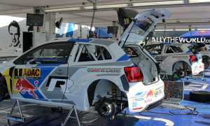WRC Germany VW Service Area