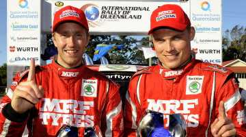 Emil Axelsson and Pontus Tidemand, Rally of Queensland 2015