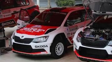 Skoda R5, Service Park, China Rally 2015