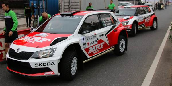 Team MRF debut Skoda Fabia R5 in China