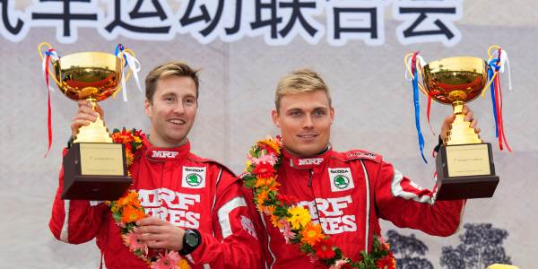 Tidemand and Team MRF Dominate China Rally