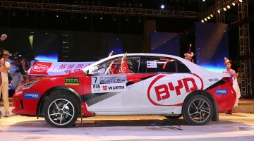 BYD on the start ramp, Rally China 2016