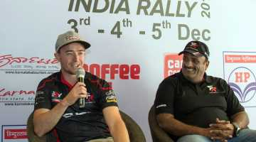 Mike Young and Sanjay Takale, Rally India 2016