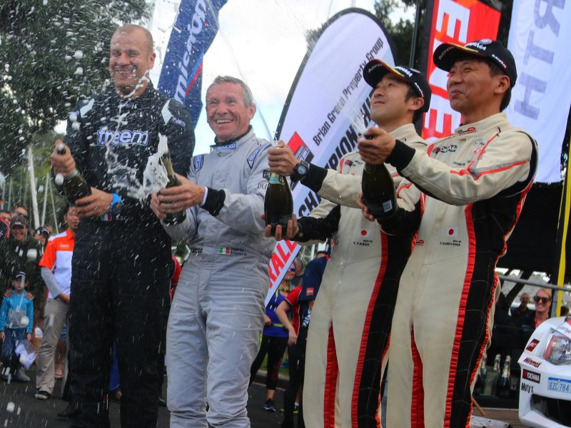 APRC podium, Rally Whangarei 2018