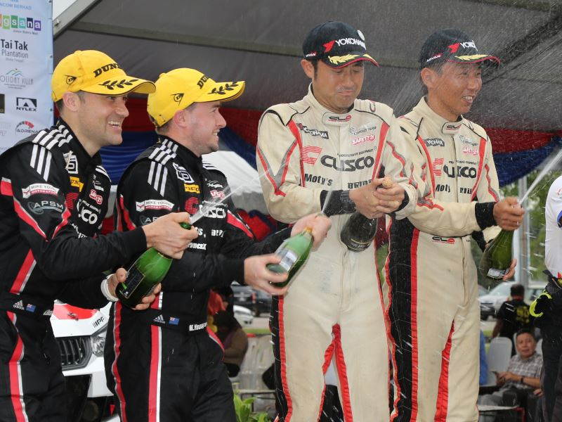 Cusco podium, Malaysia Rally 2018