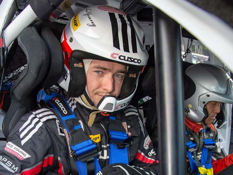 Mike Young, Rally Hokkaido 2019 testing